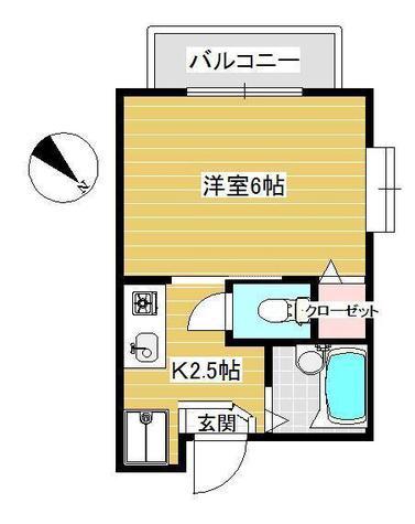 クレッシェンド目黒 / 2階 部屋画像1