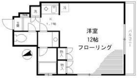 麻布イーストコート / 2f4 部屋画像1