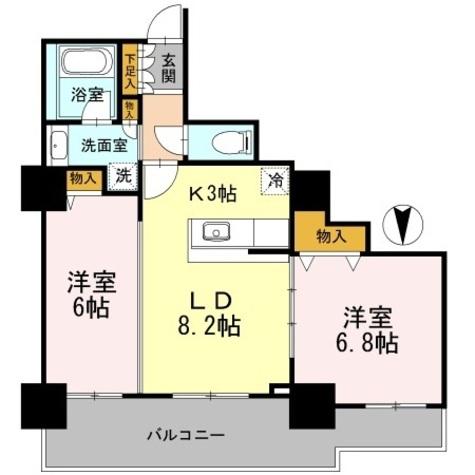 カスタリアタワー長堀橋 / 704 部屋画像1