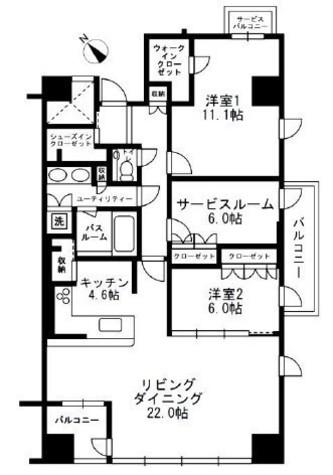 URBAN PARK代官山Ⅱ / 6階 部屋画像1