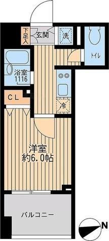 クリオ戸越銀座 弐番館 / 壱番館・Bタイプ 部屋画像1