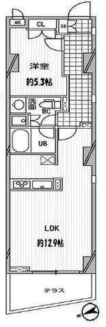 パシフィックコート中延 / 1階 部屋画像1