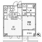 クリオ渋谷ラ・モード / Aタイプ 部屋画像1