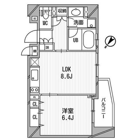 クリオ渋谷ラ・モード / Dタイプ 部屋画像1