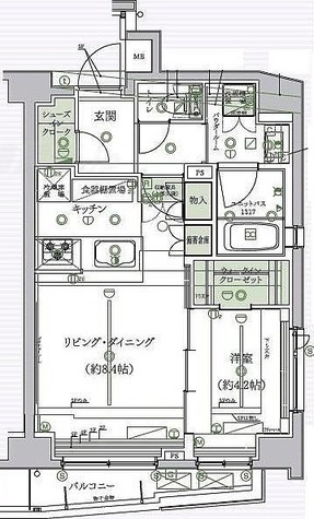 グランドコンシェルジュ多摩川アジールコート / Cタイプ 部屋画像1