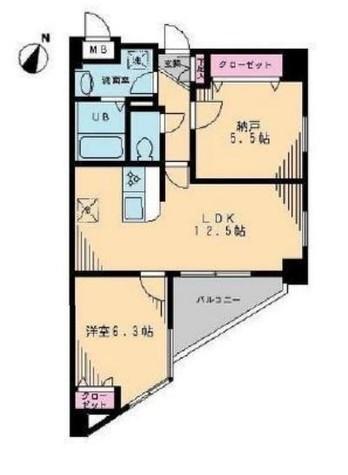 ヴェルジェ宮崎台 / 504 部屋画像1