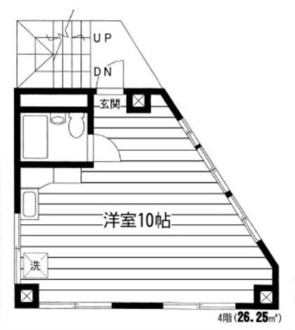 ホワイトヒルズ / 4階 部屋画像1