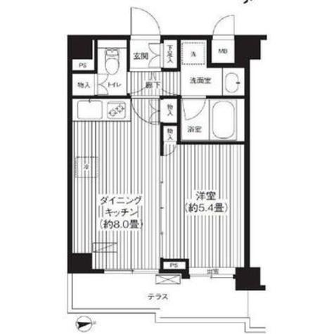 シャンドール目黒 / 101 部屋画像1