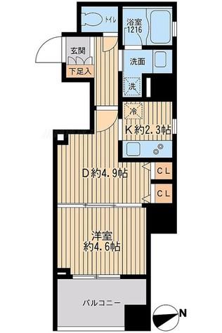 クリオ戸越銀座 弐番館 / 壱番館・Cタイプ 部屋画像1