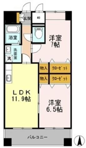 カスタリア志賀本通 / 1305 部屋画像1