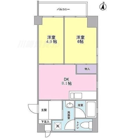 EASE PLACE多摩川 / 2DK(44.36m2) 部屋画像1
