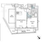 コージーコート島津山 / 1LDK1号室タイプ 部屋画像1