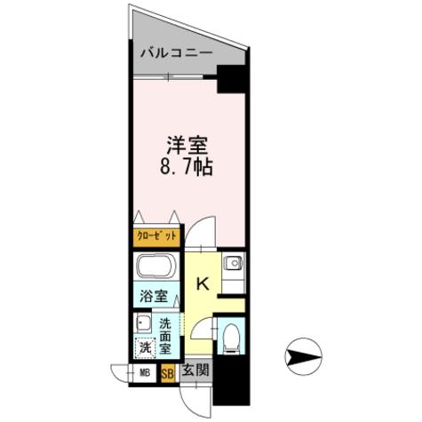 カスタリア新梅田 / 202 部屋画像1