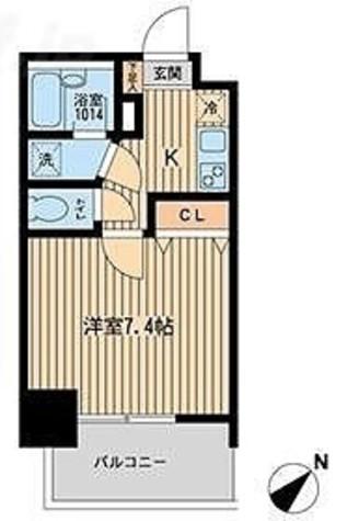フォレシティ白金台 / 1K(23.31㎡) 部屋画像1