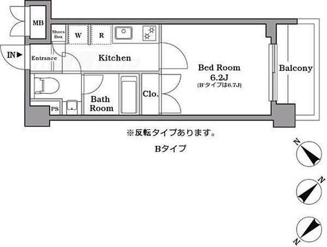レジデンス西馬込 / 1K(21.40㎡) 部屋画像1