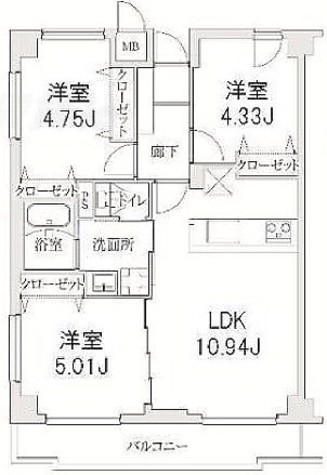ヒルフォート目黒 / 2階 部屋画像1