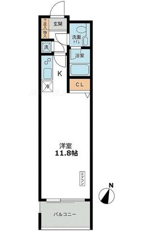 アーデン目黒通り(旧ミルーム目黒通り) / D2タイプ 部屋画像1