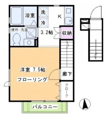 セゾンあざみ / 201 部屋画像1