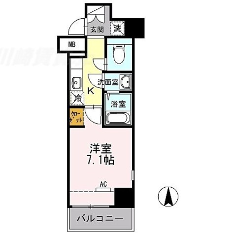 COURT BREEZE 多摩川 / 2階 部屋画像1