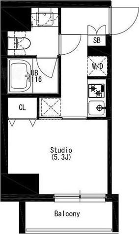 SHIROKANE WEST(白金ウエスト) / 1号室(21.08㎡) 部屋画像1
