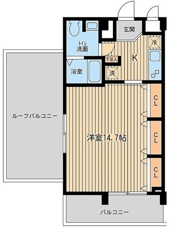 アーデン目黒不動前(旧パークハビオ目黒不動前) / Lタイプ 部屋画像1