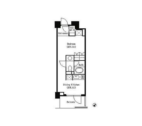 パークキューブ目黒タワー / 1DK(31㎡) 部屋画像1