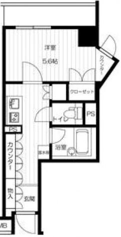 エスティメゾン川崎(旧:スペーシア川崎) / 1号室タイプ 部屋画像1