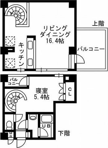 レジディア自由が丘Ⅱ(旧CRレジデンス自由が丘) / Oタイプ 部屋画像1