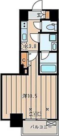 ディザイアパレス / 1号室タイプ 部屋画像1