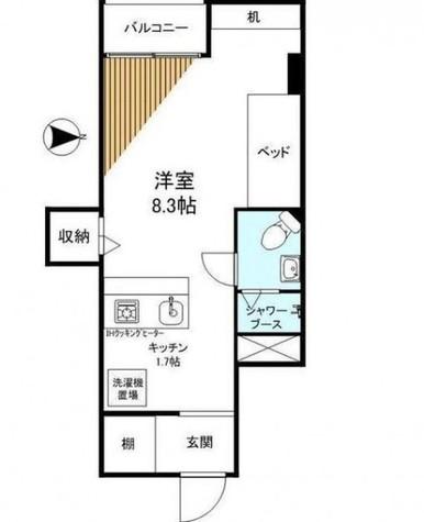 御殿山スカイマンション / 2階 部屋画像1