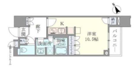 Brillia Towers目黒ノースレジ(ブリリアタワー目黒ノースレジ) / 3階 部屋画像1