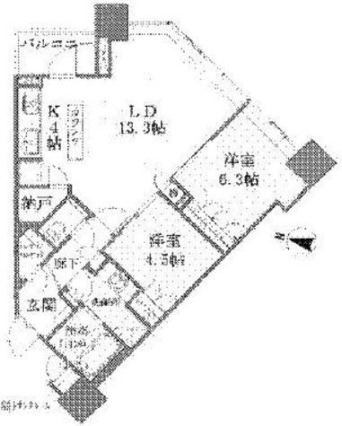 Brillia Towers目黒ノースレジ(ブリリアタワー目黒ノースレジ) / 707 部屋画像1