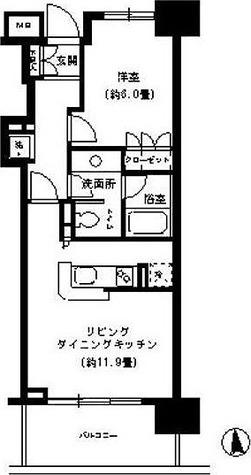 KDXレジデンス芝公園 (旧レガーロ芝公園) / 1LDK(43.21㎡) 部屋画像1