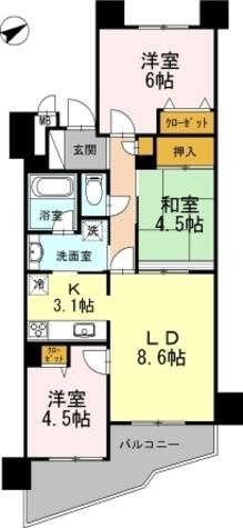 カスタリア阿倍野 / 1408 部屋画像1