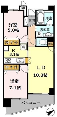カスタリア阿倍野 / 609 部屋画像1