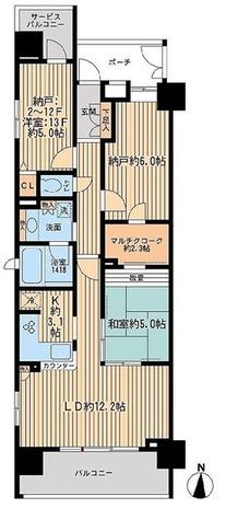 エコロジー錦糸町レジデンス / 70.52㎡タイプ 部屋画像1