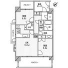 ライオンズシティ白金高輪 / Hタイプ 部屋画像1