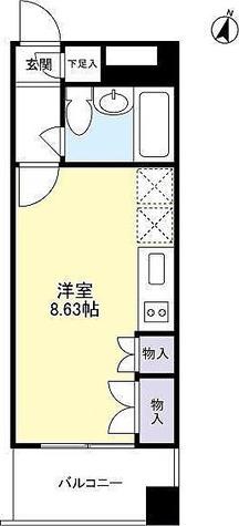 フィーノ自由が丘(fino JIYUGAOKA) / Bタイプ 部屋画像1