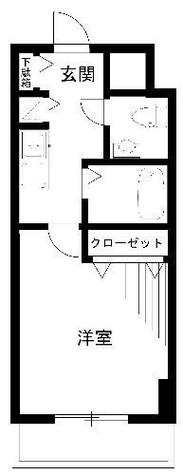ロリエタワー川崎 / 1K(26.63㎡) 部屋画像1