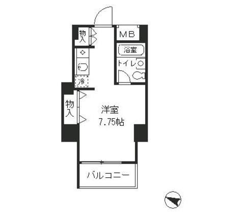 メゾン・ド・ヴィレ麻布台 / 2階 部屋画像1