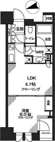 シティハウス東京新橋 / 1LDK(36.83㎡) 部屋画像1