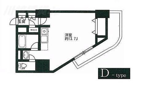HF駒沢公園レジデンスTOWER(旧トゥールジョーヌ駒沢公園) / ワンルーム(33.50㎡) 部屋画像1