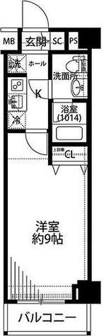 プレール・ドゥーク羽田WESTⅡ / 1K(25.76㎡) 部屋画像1