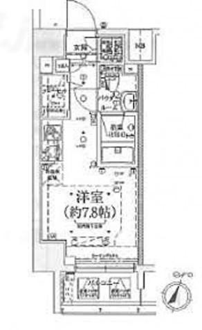 スパシエ ロッサ 横浜吉野町 / Eタイプ 部屋画像1