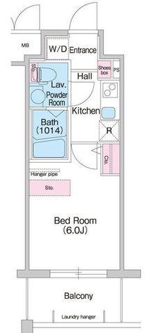 コンフォリア扇町 / 2号室(20.00㎡) 部屋画像1