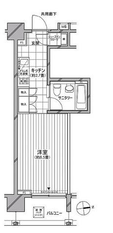 カスタリア麻布十番七面坂 / Dタイプ(27.90㎡) 部屋画像1