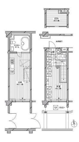 カスタリア麻布十番七面坂 / 1LDK(48.30㎡) 部屋画像1