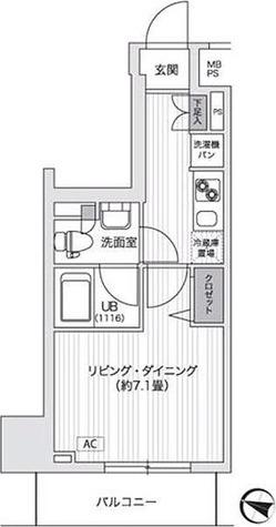 アンテニア東五反田 / 25.17㎡タイプ 部屋画像1