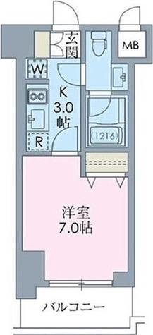 ステイシス八王子 / BRタイプ(23.52㎡) 部屋画像1