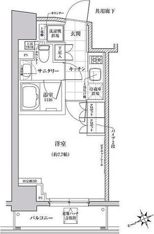 クレヴィアリグゼ三軒茶屋 / B1タイプ(25.07㎡) 部屋画像1
